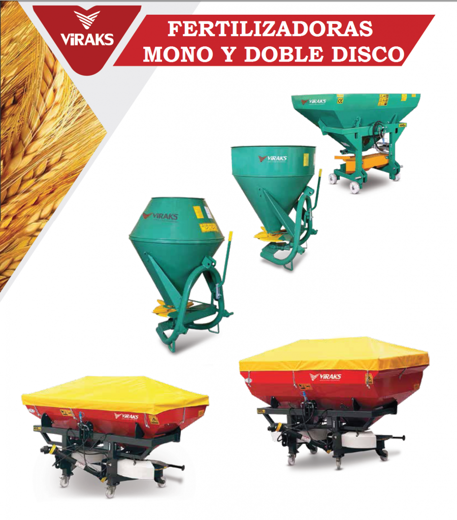 FERTILIZADORA MONO Y DOBLE DISCO